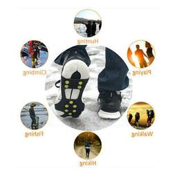 1 Pair Anti-skid Shoes Cover with 10-Studs Snow Ice Grips Cr
