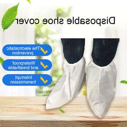 1 Pair Disposable Non Woven Anti Slip Shoes Cover Overshoes