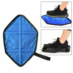 1 Pair Handsfree Reusable Shoe Cover For Indoor Durable Synt