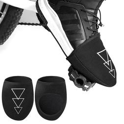 1 Pair MTB Road Bike Shoes Cover Half Palm Toe Lock Windproo