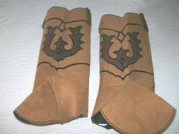 1 PairFelt Shoe Covers that look like Western Boots-Unique-U