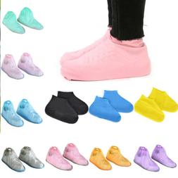 1 Pair Reusable Latex Waterproof Shoe Covers Slip-Resistant