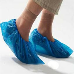 10/50/100pcs Blue Disposable Shoe Covers Plastic Cleaning Ov