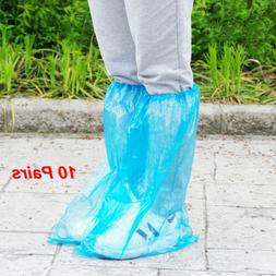 10 Pairs Disposable Shoe Covers Waterproof Rain Boot High-To