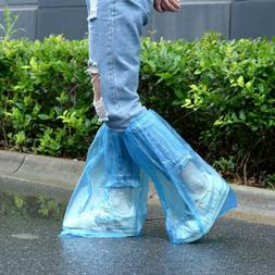 10 Pairs Waterproof Thick Plastic Disposable Rain Shoe Cover