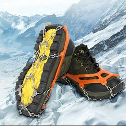 10 Teeth Anti-Slip Climbing Ice Snow Shoe Covers Spike Cleat