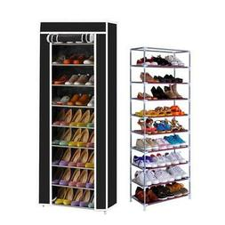 10 Tier 9 Shelf Shoe Rack Shelf Storage Home Organizer Cabin