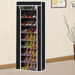 10 Tiers Shoe Rack Shelf Storage Closet Organizer Cabinet Du