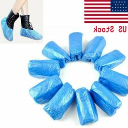 100x Waterproof Boot Shoe Covers Plastic Overshoes Protector