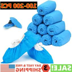 100-200 PCS Disposable PVC Plastic Over Shoes Shoe Boot Cove