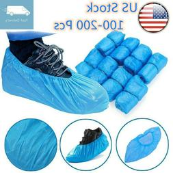 100-200 Pieces Medical Waterproof Shoe Covers Blue Disposabl