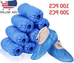 100 200Pcs Disposable Boot & Shoe Covers, PE Waterproof and