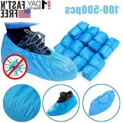 100-500 Pack Shoe Covers PE Blue Plastic Shoe Cover Waterpro