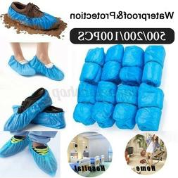 100-500PC Disposable Anti Slip Boot Shoe Covers Overshoes Wa