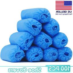 100 Pack Shoe Covers Non Woven Disposable Anti Skid Durable