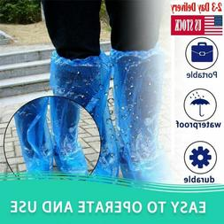 100 pairs waterproof plastic disposable rain shoe