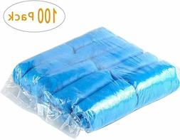 100 Pcs Extra Thick Disposable Shoe & Boot Covers Durable &