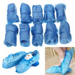 100 Pcs Medical Waterproof Boot Covers Plastic Disposable Sh