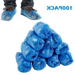 100 PCs Reusable Waterproof Disposable Shoe Cover Blue Overs