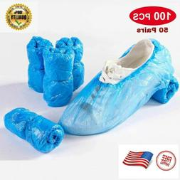 100 PCS Waterproof Boot Covers Disposable Shoe Cover Elastic