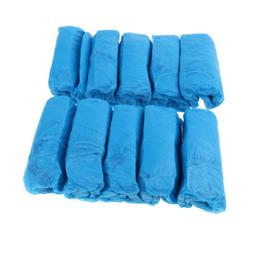 100 Pieces Disposable Overshoes, Shoe Covers, Thick, Anti-sk