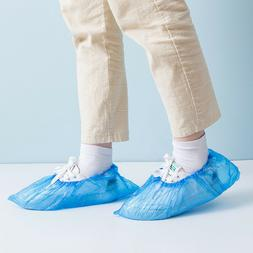100 x Blue / Pink Disposable Shoe Cover Non-slip Plastic Cle