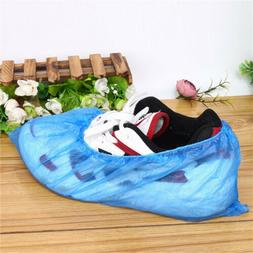 100Pcs/50 Pair Disposable Plastic Waterproof Shoe Covers Boo
