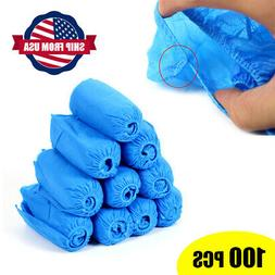 100pcs  Non-Woven Fabric Disposable Anti Skid Shoe Covers