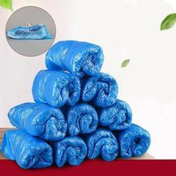 100Pcs/50Pairs Plastic Booties Shoe Covers Non Slip Disposab