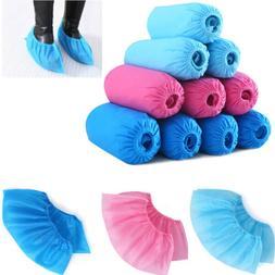 100pcs Anti Slip Disposable Shoe Covers Protective Non-woven