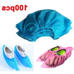 100pcs Disposable Safety Non-slip Protection Shoe Cover Non-