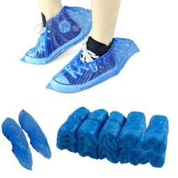 100Pcs Disposable Plastic Anti Slip Shoe Covers Cleaning Pro