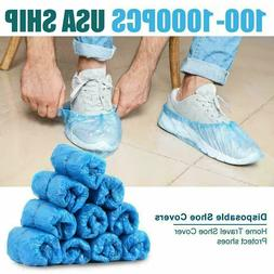 100Pcs Disposable Plastic Anti Slip Shoe Covers Cleaning Ove
