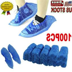 100Pcs Disposable Plastic Anti Slip Shoe Covers Cleaning Pro