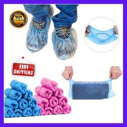 100PCS Disposable Shoe Boot Covers Indoor Non Slip Floor Pro