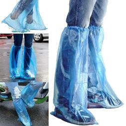 100pcs Disposable Shoe Covers High-Top Overshoes Waterproof