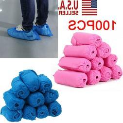 100pcs Disposable Shoe Covers Non-woven Fabrics Boot Non-Sli
