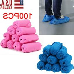 100pcs Disposable Shoe Covers Non-woven Fabrics Boot Non-Sli
