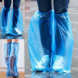 100pcs Disposable Shoe Covers Waterproof Rain Boots Cover Pl