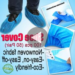 100Pcs Non-woven Shoes Cover Disposable Anti-Slip Indoor Out