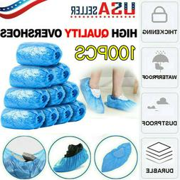 100PCS Sanitary Blue Shoe Cover Non Slip Disposable Floor Pr