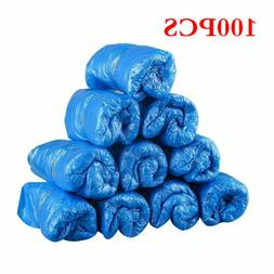 100PCS Waterproof Boot Covers Disposable Shoe Cover Elastic