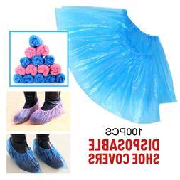 100Pcs Waterproof Disposable Plastic Shoe Covers Non-Slip Cl