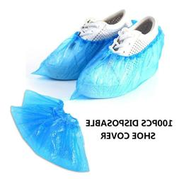 100Pcs Waterproof Non-Slip Disposable Plastic Shoe Covers Ho