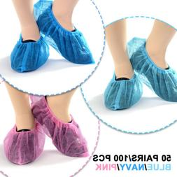 100X Disposable Shoes Covers Dustproof Anti Slip Non-woven F