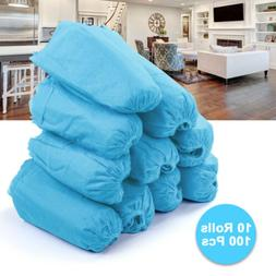 100X Disposable Shoes Foot Covers Dustproof Anti Slip Non-wo