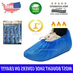 100x Waterproof Disposable Shoe Covers Overshoes Protector P