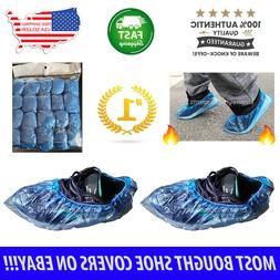 100x Waterproof Boot Shoe Covers Plastic Disposable Overshoe