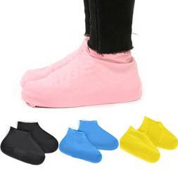 1 Pair Reusable Latex Waterproof Shoes Covers Slip-resistant