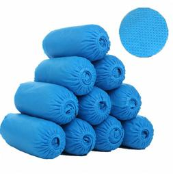 10Pcs Disposable Boot & Shoe Covers, PE Non-Slip and Protect